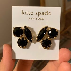 Kate Spade Black Crystal Earrings